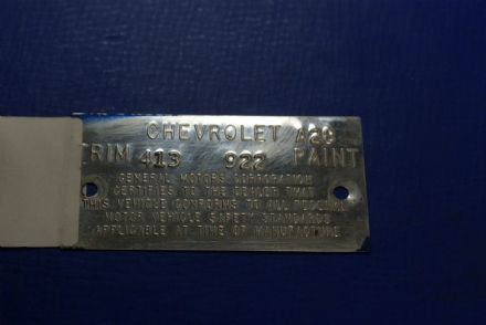 1973 Trim Tag,Original,Used